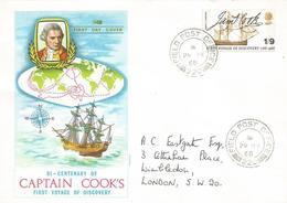 UK 1968 FPO 220 Malta Forces Military Explorer James Cook FDC Cover - Malta