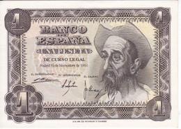 BILLETE DE ESPAÑA DE 1 PTA DEL AÑO 1951 EL QUIJOTE  SERIE E (SIN CIRCULAR-UNCIRCULATED) - [ 3] 1936-1975 : Régimen De Franco
