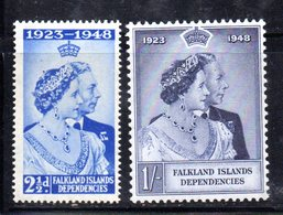 468 - FALKLAND Dependencies 1948 , Yvert N. 44/45  Nuovo  *   (2380A) . - Falkland