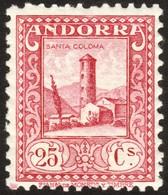 ~~~ Spanish Andorra Andorre 1935 - Santa Coloma - Perf 11½  - Mi. 35 A ** MNH  ~~~ - Andorre Espagnol