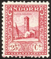 ~~~ Spanish Andorra Andorre 1935 - Santa Coloma - Perf 11½  - Mi. 35 A ** MNH  ~~~ - Spaans-Andorra