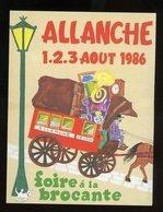 CPM:  15 - ALLANCHE - 10e FOIRE À LA BROCANTE  (1 - 2 - 3 AOUT 1986 )- - Allanche