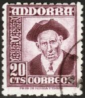 ~~~ Spanish Andorra Andorre 1948 -  Mi. 44 (o) ~~~ - Spaans-Andorra