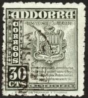 ~~~ Spanish Andorra Andorre 1948 - Coat Of Arms -  Mi. 45 (o) ~~~ - Spaans-Andorra