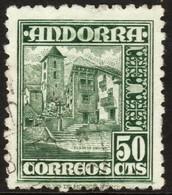 ~~~ Spanish Andorra Andorre 1948 - Coat Of Arms -  Mi. 46 (o) ~~~ - Spaans-Andorra