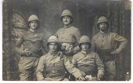 Sodats Troupes Coloniales Empire Britannique ? Régiment 412 ; Militaria Colonies Uniforme Colonial - Carte Photo - Autres