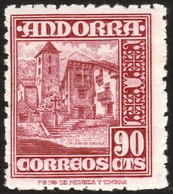 ~~~ Spanish Andorra Andorre 1948 - Coat Of Arms -  Mi. 48 MNH ** ~~~ - Andorra Española