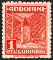 ~~~ Spanish Andorra Andorre 1948 - Oratorio -  Mi. 49 MNH ** ~~~ - Andorra Española
