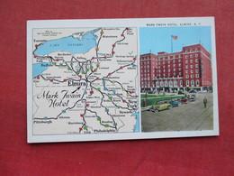 Map & Mark Twain Hotel ------ Elmira  New York    Ref 3297 - NY - New York