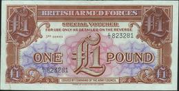 GREAT BRITAIN - 1 Pound Nd.(1956) AU P.M 29 - Forze Armate Britanniche & Docuementi Speciali
