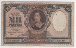 BILLETE DE ESPAÑA DE 1000 PTAS DEL AÑO 1940 DE MURILLO -  RARO Y DIFICIL  (BANKNOTE) - [ 3] 1936-1975 : Régimen De Franco