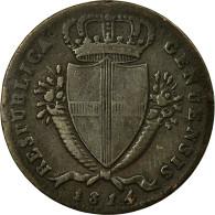 Monnaie, États Italiens, GENOA, 2 Soldi, 1814, Genoa, TB+, Billon, KM:282.2 - Regional Coins