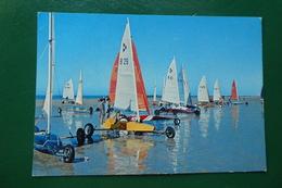 Saint-jean-de-monts (vendée) Chars à Voile Sur La Plage écrite En 1978 - Saint Jean De Monts