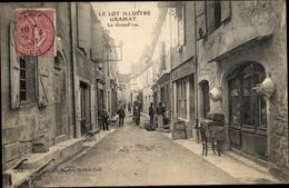 Cp Gramat Lot, La Grand'rue - France