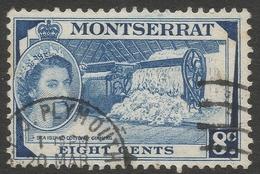 Montserrat. 1953-62 QEII. 8c Used. SG 143 - Montserrat