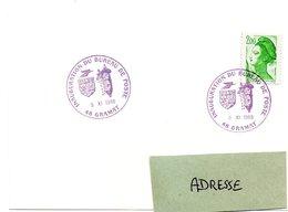 CACHET TEMPORAIRE Illustré = 46 GRAMAT 1988 = CACHET TEMPORAIRE Illustré D' ARMOIRIES ' INAUGURATION BUREAU De POSTE ' - Canards