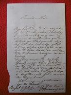 BRUXELLES BELGIQUE MANUSCRIT AUTOGRAPHE PASTEUR BIERMANS ? 1855 - Manuscrits