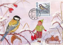 D36807 CARTE MAXIMUM CARD FD 2011 NETHERLANDS - PARUS MAJOR GREAT TIT CP ORIGINAL - Passereaux