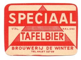 Etiket Etiquette - Bier Bière - Speciaal Tafelbier - Brouwerij De Winter - Aalst - Cerveza