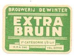Etiket Etiquette - Bier Bière - Extra Bruin - Brouwerij De Winter - Aalst - Cerveza