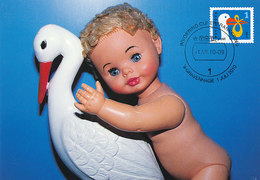 D36808 CARTE MAXIMUM CARD FD 2010 NETHERLANDS - STORK BIRTH CICOGNE CP ORIGINAL - Cigognes & échassiers