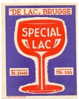 Etiket Etiquette - Bier Bière - Speciaal Lac - De Lac Brugge - Cerveza