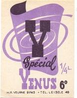 Etiket Etiquette - Bier Bière - Speciaal Venus - Veurne - Leisele - Cerveza