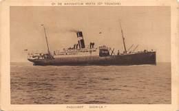 """M08025 """"PAQUEBOT DJEMILA""""PIROSCAFO-CARTOLINA POSTALE ORIGINALE NON SPEDITA - Piroscafi"""
