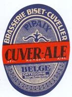 Etiket Etiquette - Bier Bière - Cuver Ale - Brouwerij -  Brasserie Biset - Cuvelier - Cerveza