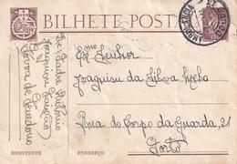 PORTUGAL 1946 ENTIER POSTAL/GANZSACHE/POSTAL STATIONERY CARTE AVEC CACHETAMBULANT ZUGSTEMPEL - Postwaardestukken