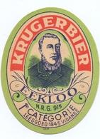 Etiket Etiquette - Bier Bière - Krugerbier - Brouwerij Kruger Eeklo - Cerveza