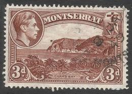 Montserrat. 1938-48 KGVI. 3d Used. P14 SG 106a - Montserrat