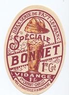 Etiket Etiquette - Bier Bière - Speciale Bonnet - Brasserie De Fayt - Lefranc - Cerveza