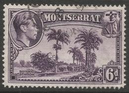 Montserrat. 1938-48 KGVI. 6d Used. P14 SG 107a - Montserrat