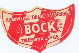 Etiket Etiquette - Bier Bière - Bock - Brouwerij De Lac - S.V. Brugge - Cerveza