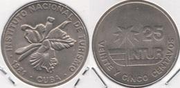 Cuba 25 Centavos 1981 (large 25) KM#418.1 - Used - Cuba