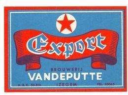 Etiket Etiquette - Bier Bière - Export - Brouwerij Brasserie Vandeputte - Izegem - Cerveza
