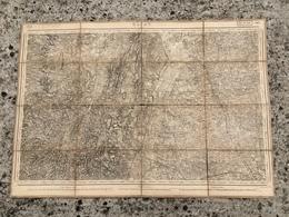 CARTE ETAT MAJOR ENTOILEE RELEVEE EN 1845 MACON CHARNAY CLUNY SALORNAY CORMATIN CUISERY PONT DE VAUX ARBIGNY TRIVIER - Mapas Topográficas