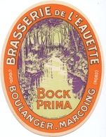 Etiket Etiquette - Bier Bière - Bock Prima - Brouwerij Brasserie De L' Eauette - Boulanger - Marcoing - Cerveza