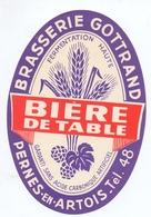 Etiket Etiquette - Bier Bière - Bière De Table - Brouwerij Brasserie Gottrand - Pernes En Artois - Cerveza