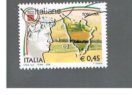 ITALIA REPUBBLICA  -   2006     REGIONI: TOSCANA         -   USATO  ° - 2001-10: Usati