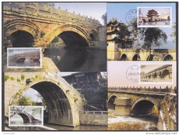 China P.R. 2002 Bridges 4 Maxicards (42506) - Maximumkaarten