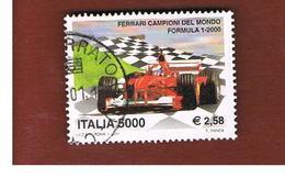 ITALIA REPUBBLICA  -  2001  FERRARI CAMPIONE MONDIALE FORMULA 1        - USATO ° - 2001-10: Usati