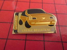 718A Pins Pin's  / Rare, Belle Qualité / THEME AUTOMOBILE : PEUGEOT GARAGE BELLUTEAU Il Aurait Dû S'appeler Belloteau - Peugeot