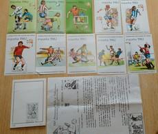 CARPETA 10 HOJITAS MUNDIAL ESPAÑA 82 (C.I. COLON) - NUEVAS SIN FIJASELLOS Y NUMERADAS - MUY ESCASAS - TEMA FUTBOL - Coppa Del Mondo