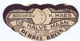 Etiket Etiquette - Bier Bière - Dubbel Bruin - Brouwerij H. Maes - De Halve Maan - Brugge - Cerveza