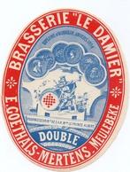 Etiket Etiquette - Bier Bière - Double - Brouwerij Brasserie Le Damier - E. Goethals - Mertens - Meulebeke - Cerveza