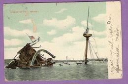 Etats Unis D Amerique Wreck Of The Maine 1909 - A Prendre En L Etat - - Etats-Unis