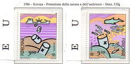PIA  -  FAROER.  -  1986  :  Europa   (Yv 128-29) - Isole Faroer