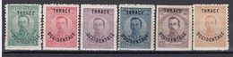 """Thrace 1920 - Bulgarian Stamps With Overprint """"THRACE OCCIDENTALE"""", Mi-Nr. 20/25, MNH** - Thrace"""